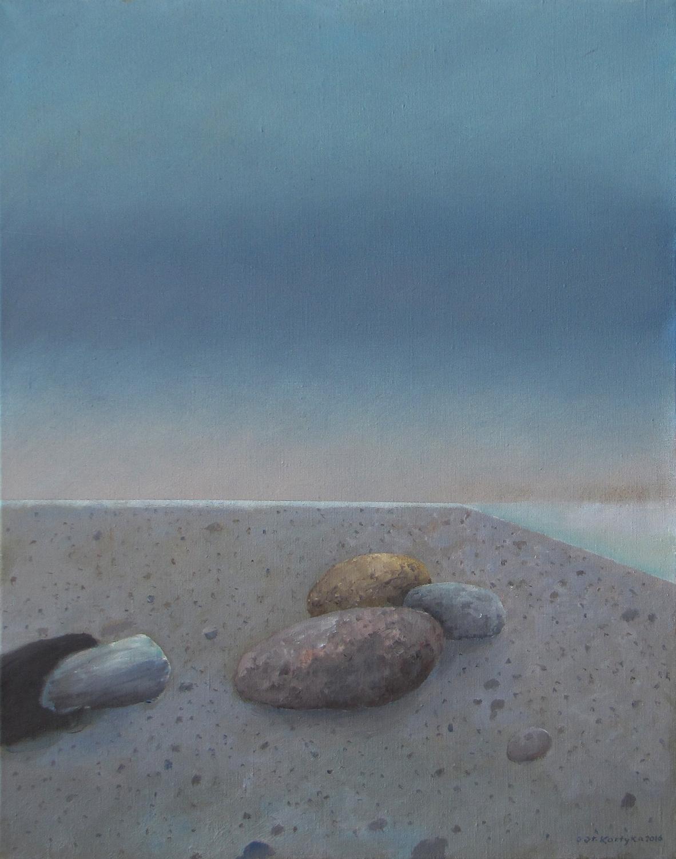 Błękitna smuga, 2016, olej na płótnie, 55x70cm