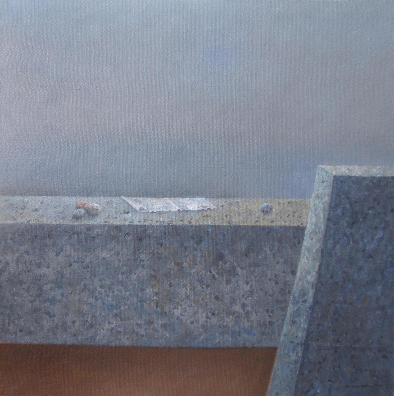 Biała draperia, 2014, olej, płótno, 61×61 cm