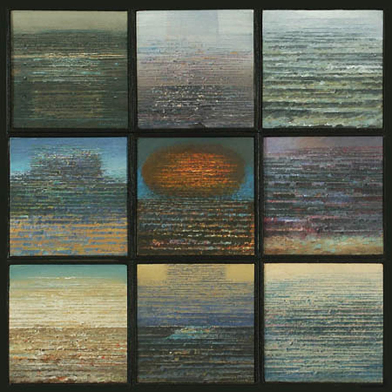 Dzien po dniu 1997, tempera akryl, 14,5x14,5cmx6