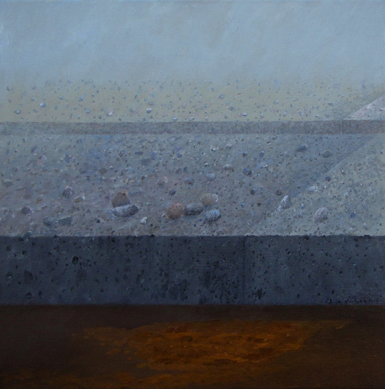 Horyzont, 2014 olej na płótnie, 61x61
