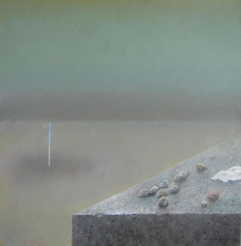 Horyzont, 2015, olejna płótnie, 65x65cm