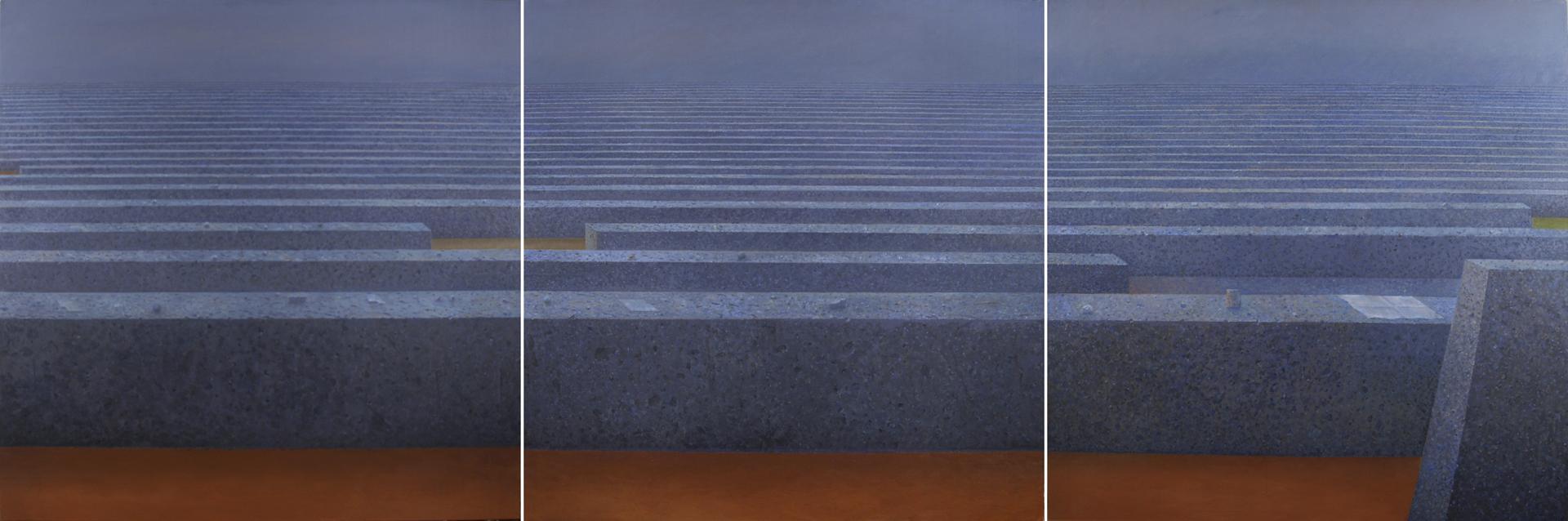 Horyzont, 4,5,6, 2005-2006, 150x150cm
