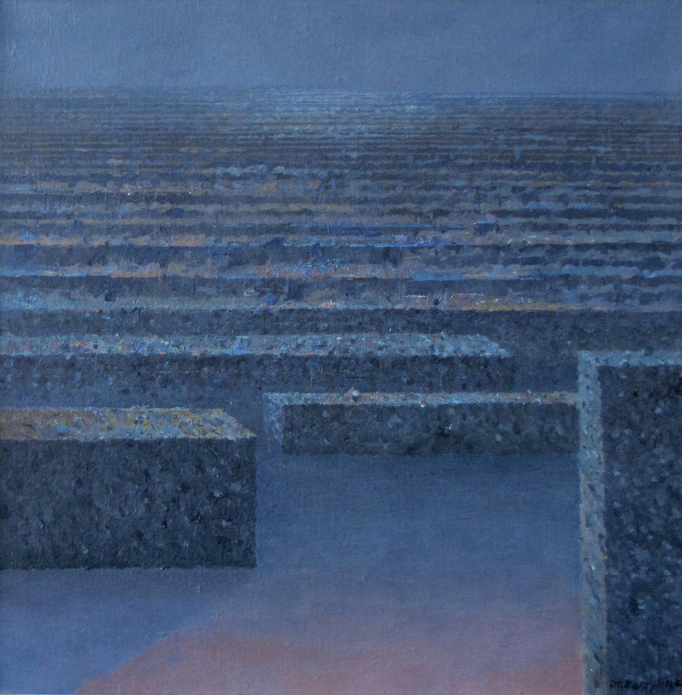 Kamienny rytm, 2004, olej na płótnie