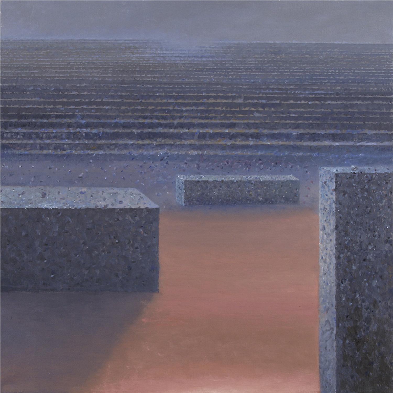 Kamienny rytm, 2004, olej płótno, 65x65cm