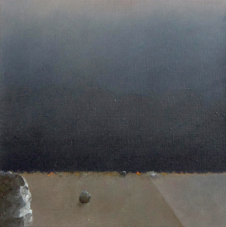 Od zmierzchu do świtu, 2015, olej na płótnie, 30x30cm