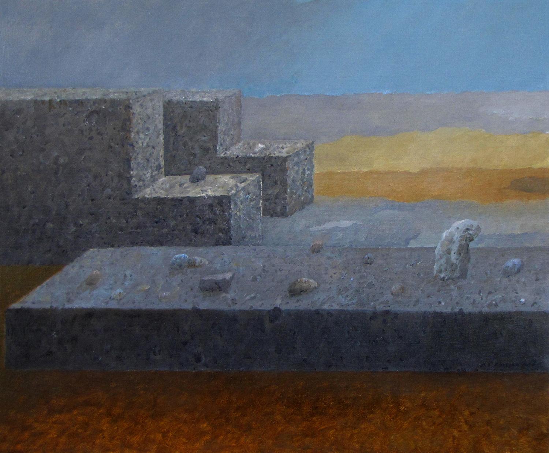 Podróż nieskończona, 2014, olej na płótnie, 60x73