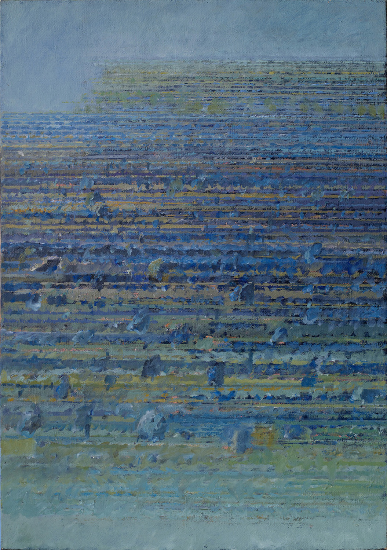 Ponad horyzontem 1996, olej płótno, 64x45cm