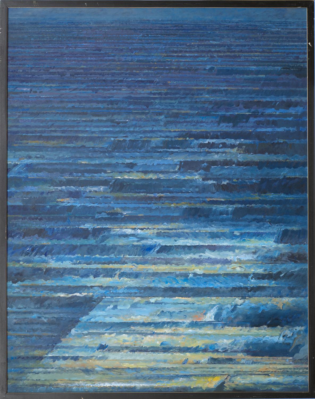 Poza trwaniem 1993, olej płótno, 130x100cm