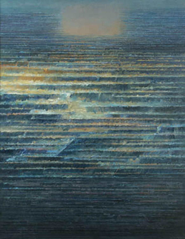 Poza trwaniem 2 1993, olej płótno, 130x100cm
