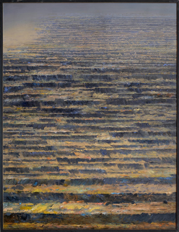Poza trwaniem II 1992, olej płótno, 116x89cm
