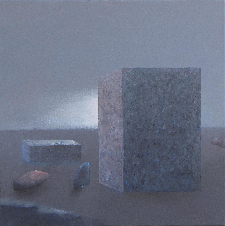 Skąd światło, 2015, olej na płótnie, 60x60 cm