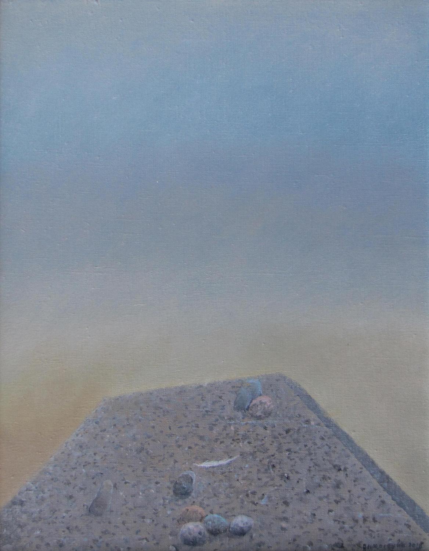 Stan oczekiwania 2013, olej płótno, 50x40cm