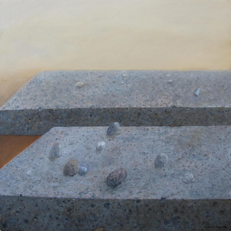 Tajemnica kamiennego kręgu, 2014, olej na płótnie, 61x61