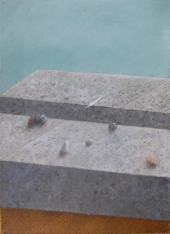 Trwanie II, 2014, olej, płótno, 55×70 cm