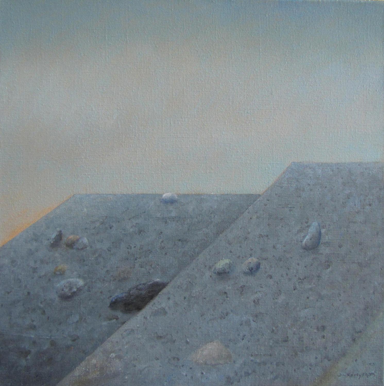 Trwanie II, 2015, olej na płótnie, 61x61cm