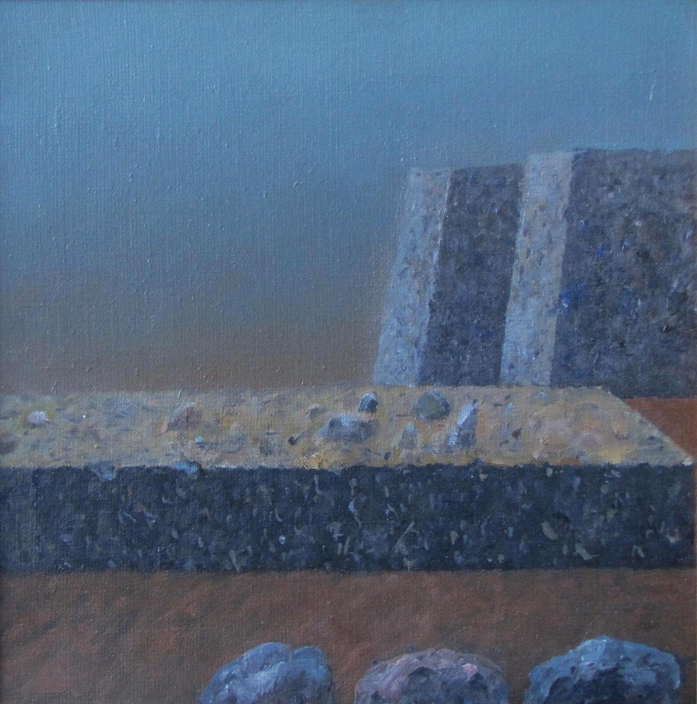 Trzy kamienie, 2012, olej płótno, 35x35cm