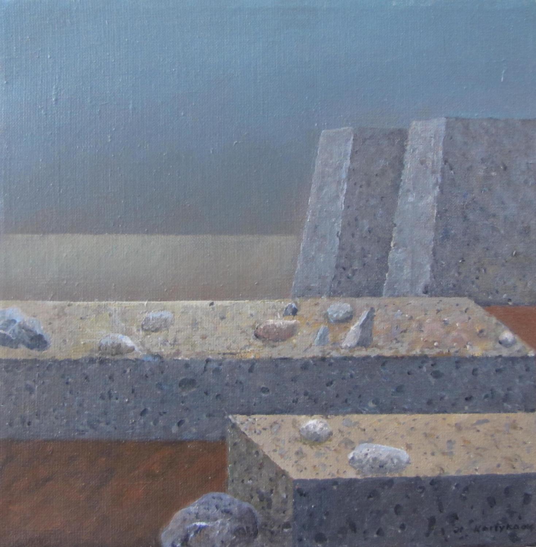 Trzy kamienie bliżej, 2012-14, olej, płótno, 35×35 cm