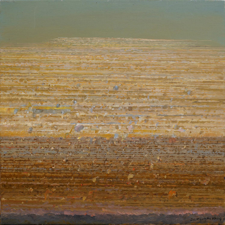 Zanikający rytm 1999, olej płótno, 45x45cm
